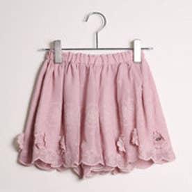 ジル スチュアート ニューヨーク JILLSTUART NEWYORK outlet 花柄刺繍キュロットパンツ (ピンク)