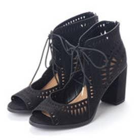 ラ アルアリア LA ARARIA My Delicious Shoes スエードサンダル (ブラック)