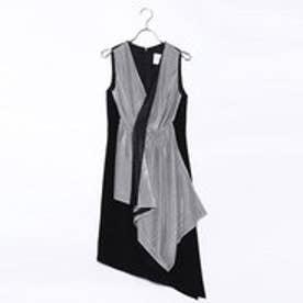 ラ アルアリア LA ARARIA アシメトリー切り替えドレス (ブラック)