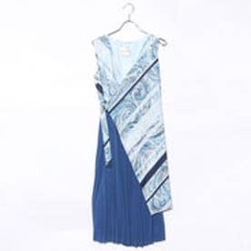 ラ アルアリア LA ARARIA プリーツワンピースドレス (ブルー)