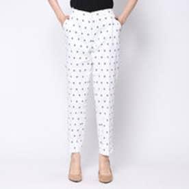 ニューヨーク インダストリー New York Industrie Outlet 2連ダイヤ刺繍パンツ (ホワイト)