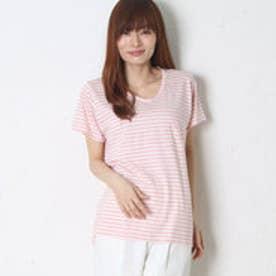 ナチュラルスタンスリーブル natural stance Libre VネックポケットTシャツ (ピンク)