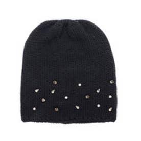 ナノ ユニバース  NANO UNIVERSE outlet FERRUCCIO VECCHI ビジューニット帽 (ブラック)