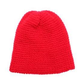 ナノ ユニバース  NANO UNIVERSE outlet カラーワッフルニット帽 (レッド)