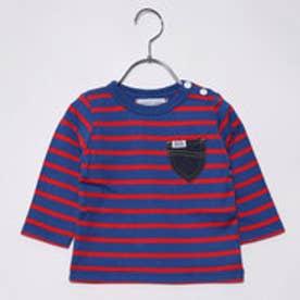 ナノ ユニバース  NANO UNIVERSE outlet 【Lee】ボーダー七分袖Tシャツ (レッド×ブルー)