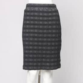 ナノ ユニバース アウトレット NANO UNIVERSE outlet 18Gブリスタージャガードタイトスカート (ブラック)