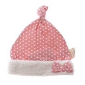 オリーブ デ オリーブ ドール OLIVE des OLIVE DOLL 水玉ベビー帽子 (ピンク)