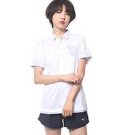プーマ PUMA ゴルフ W SS ワイドカラー ポロシャツ (WHITE)