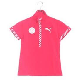 プーマ PUMA ゴルフ W SS スタンドカラー ポロシャツ (ROSE RED)