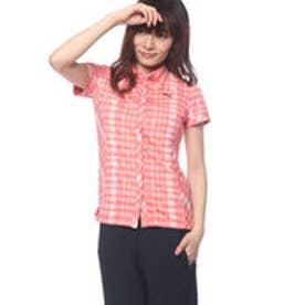 プーマ PUMA ゴルフ S/Sチェックシャツ (CALYPSO CORAL)