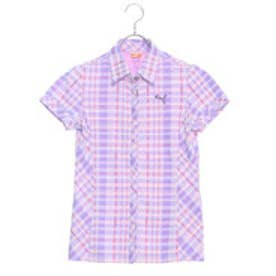 プーマ PUMA ゴルフ S/Sチェックシャツ (DAHLIA PURPLE)