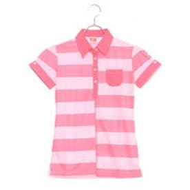 プーマ PUMA ゴルフ S/Sボーダーシャツ (CALYPSO CORAL)