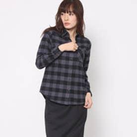 リネーム Rename 起毛チェックシャツ (グレー)