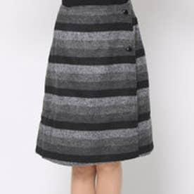 リネーム Rename リバーシブルボーダスカート (ブラック×ブラック)
