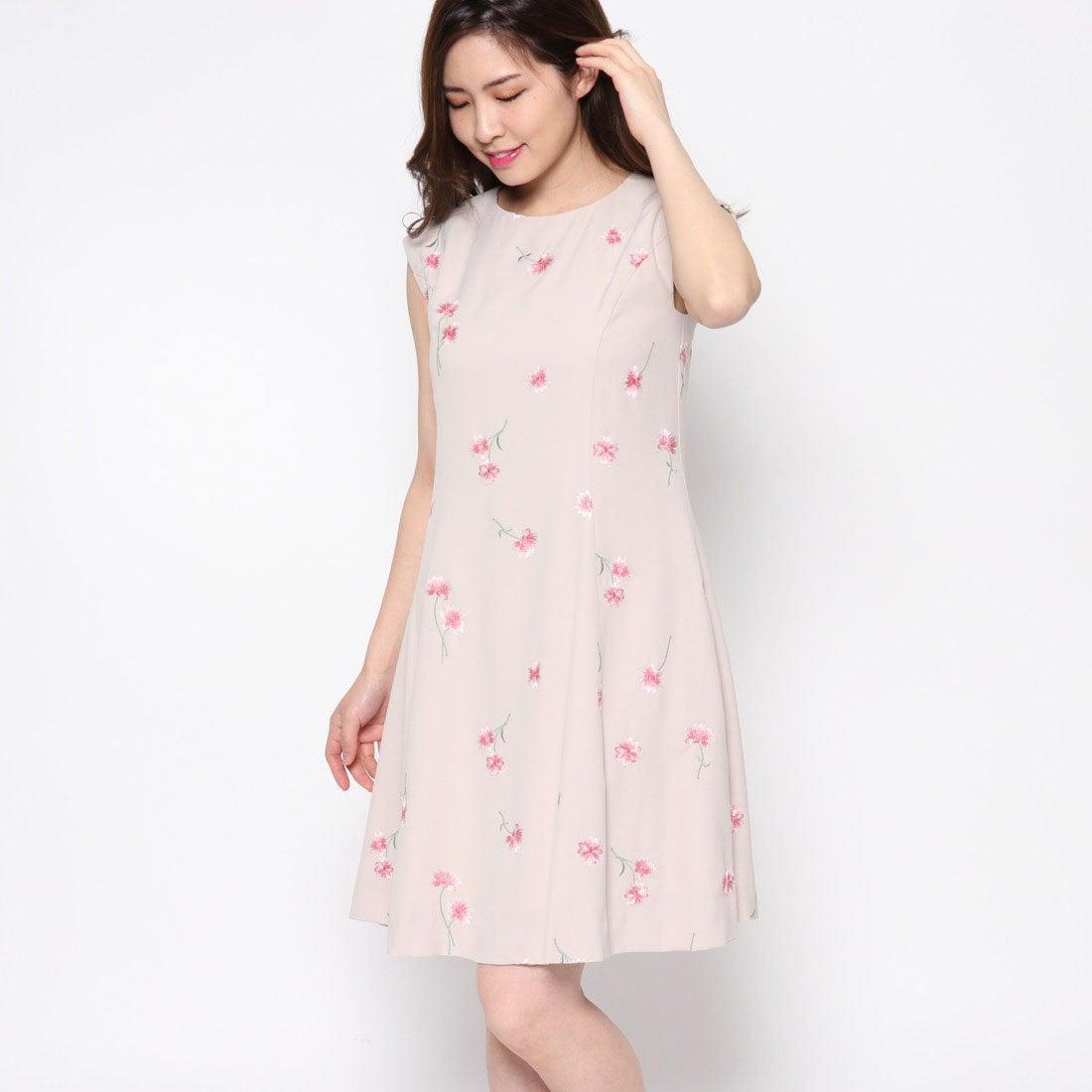 【SALE 56%OFF】リネーム Rename シフォン花柄刺繍ワンピース (ベージュ)