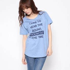 リネーム Rename ロゴプリントTシャツ (ブルー)