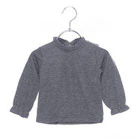 リシェス richesse 襟フレア長袖Tシャツ (グレー)