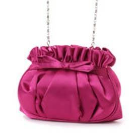 ルビーリベット Rubyrivet リボン付ドレスバッグ (ピンク)