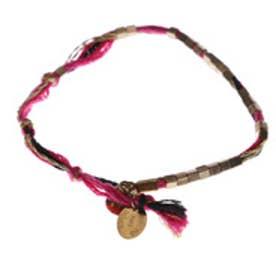 ルビーリベット Rubyrivet メドゥスィン・ドゥース刺繍糸ブレスレット (ローズピンク)