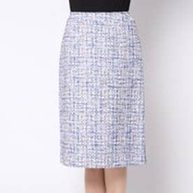 サンジョア Saint Joie ツイード素材スカート (ブルー)