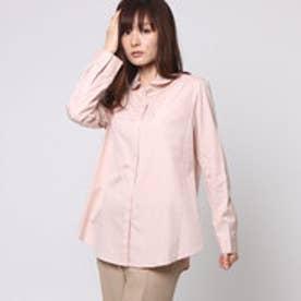 スチェッソ SUTSESO 隠しボタン単色シャツ (ピンク)