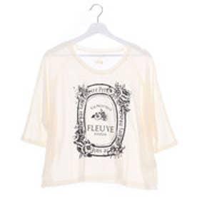 ジエンポリアム THE EMPORIUM 花柄7分袖ドルマンTシャツ (オフホワイト)