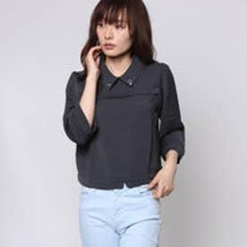 ジエンポリアム THE EMPORIUM 襟ハートビジュー付きシャツ (ブラック)