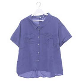 ジエンポリアム THE EMPORIUM ポケット付き半袖シャツ (ブルー)