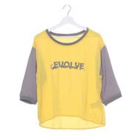 ジエンポリアム THE EMPORIUM 恐竜ロゴプリント配色Tシャツ (イエロー)