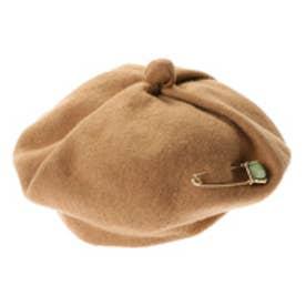 アンチュール エミュ Unchulle' emu ボンネヴォロンテ ピン付きウールベレー帽 (ブラウン)