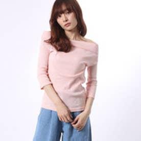 アンチュール エミュ Unchulle' emu 無地6分袖Tシャツ (ピンク)