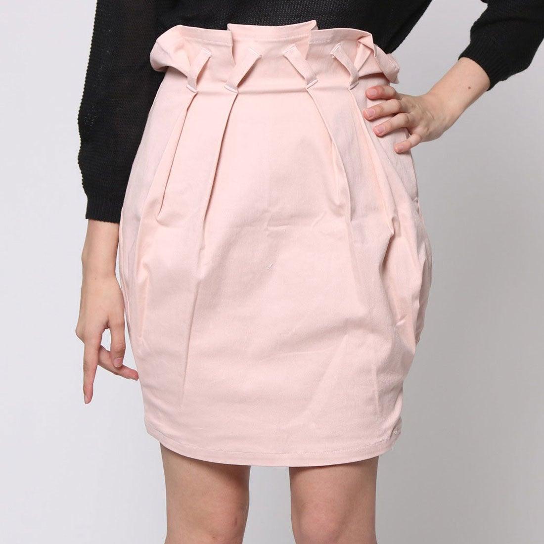 【SALE 80%OFF】アンチュール エミュ Unchulle' emu タックコクーンスカート (ピンク)