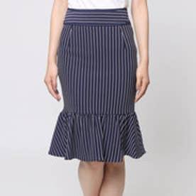 アンチュール エミュ Unchulle' emu ボーダーぺプラムスカート (ネイビー)