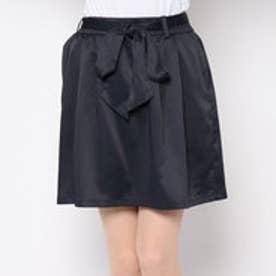 アンタイトル  UNTITLED outlet リボン付キバルーンスカート (ブラック)