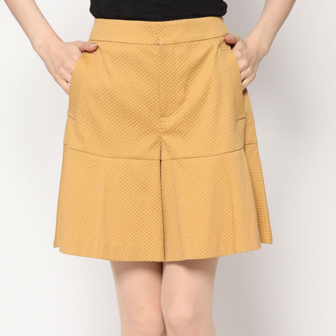 アンタイトル UNTITLED outlet 裾フレアキュロットスカート (イエロー)