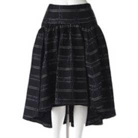 イラン イラン YLANG YLANG ブリリアントチェックテイルスカート (黒)