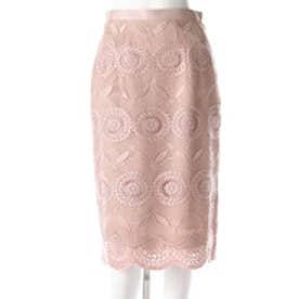 イラン イラン YLANG YLANG ボヘミアンレースミモレタイトスカート (ピンク)