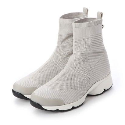 ウェービーソールニットブーツ (オフホワイト)