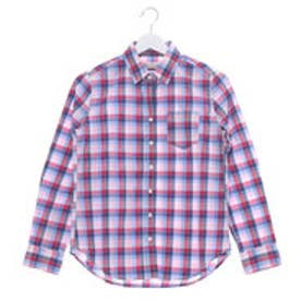 クリアインプレッション CLEAR IMPRESSION 先染めチェックシャツ (ピンク)