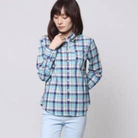 クリアインプレッション CLEAR IMPRESSION 先染めチェックシャツ (ブルーグリーン)