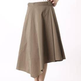 クリアインプレッション CLEAR IMPRESSION TCブロード×綿ナイショートスカート (カーキ)