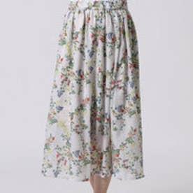 クリアインプレッション CLEAR IMPRESSION スパンローンボタニカショートスカート (アイボリー)