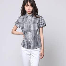 クリアインプレッション CLEAR IMPRESSION 綿ナイロンPUブローシャツ (クロ)