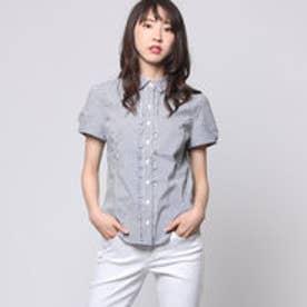 クリアインプレッション CLEAR IMPRESSION 綿ナイロンPUブローシャツ (ブルー)