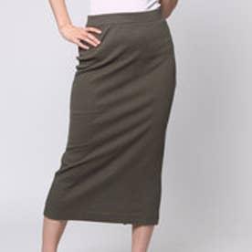 クリアインプレッション CLEAR IMPRESSION ワイドリブタイトSKCUTスカート (カーキ)