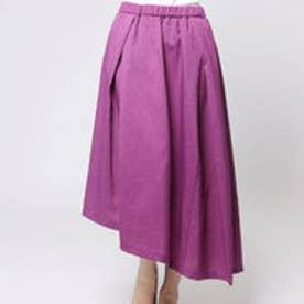 クリアインプレッション CLEAR IMPRESSION 麻調合繊ショートスカート (パープル)