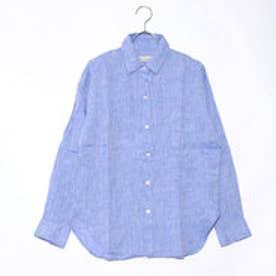 クリアインプレッション CLEAR IMPRESSION フレンチリネンBLシャツ (サックス)