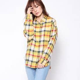クリアインプレッション CLEAR IMPRESSION フレンチリネンBLシャツ (カラシ)