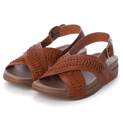 フィットフロップ fitflop SURFER WOVEN LEATHER CROC-EMBOSS (Dark Tan)