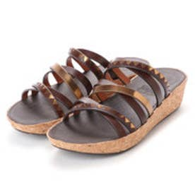 フィットフロップ FitFlop LINNY SLIDE SANDALS - ZIGZAG MIRROR (Espresso/Bronze Mirror)